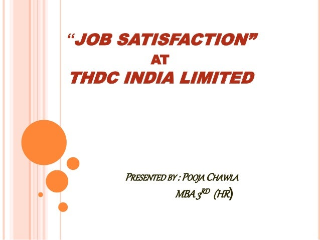 literature review of job satisfaction in india Literature review on customer satisfaction  (technocrats institute of technology - mba, bhopal, india)  job satisfaction and propensity to leave in a sales.