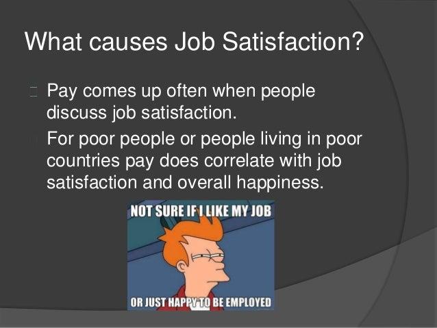 causes of job satisfaction pdf