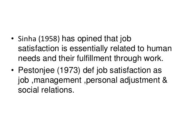 job satisfaction human resources We need to first understand what is the difference between satisfaction and  happiness first happiness is a state of mind and happiness is absence of want or .