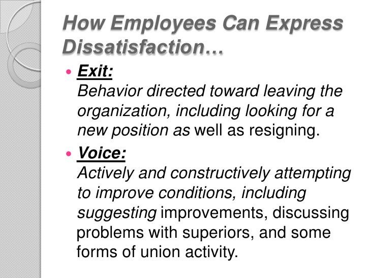 the impact of satisfied and dissatisfied employees on the workplace