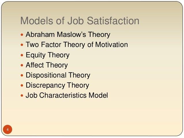 Job satisfaction research