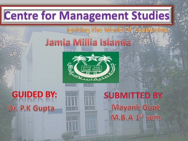 Centre for Management Studies