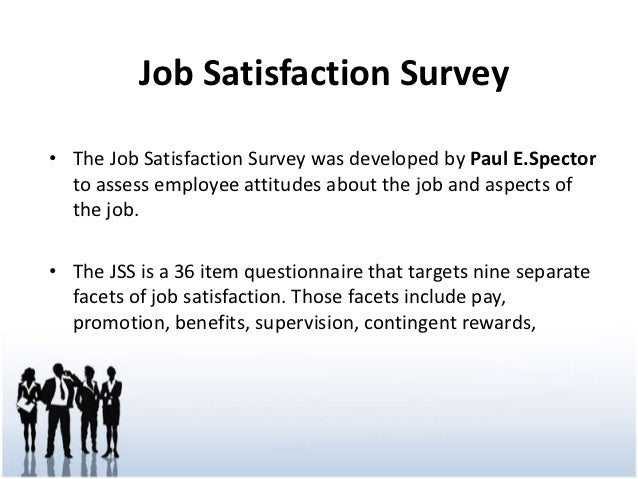 employee attitude and job satisfaction questionnaire