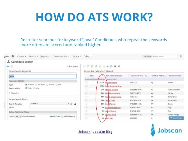 applicant tracking system keywords