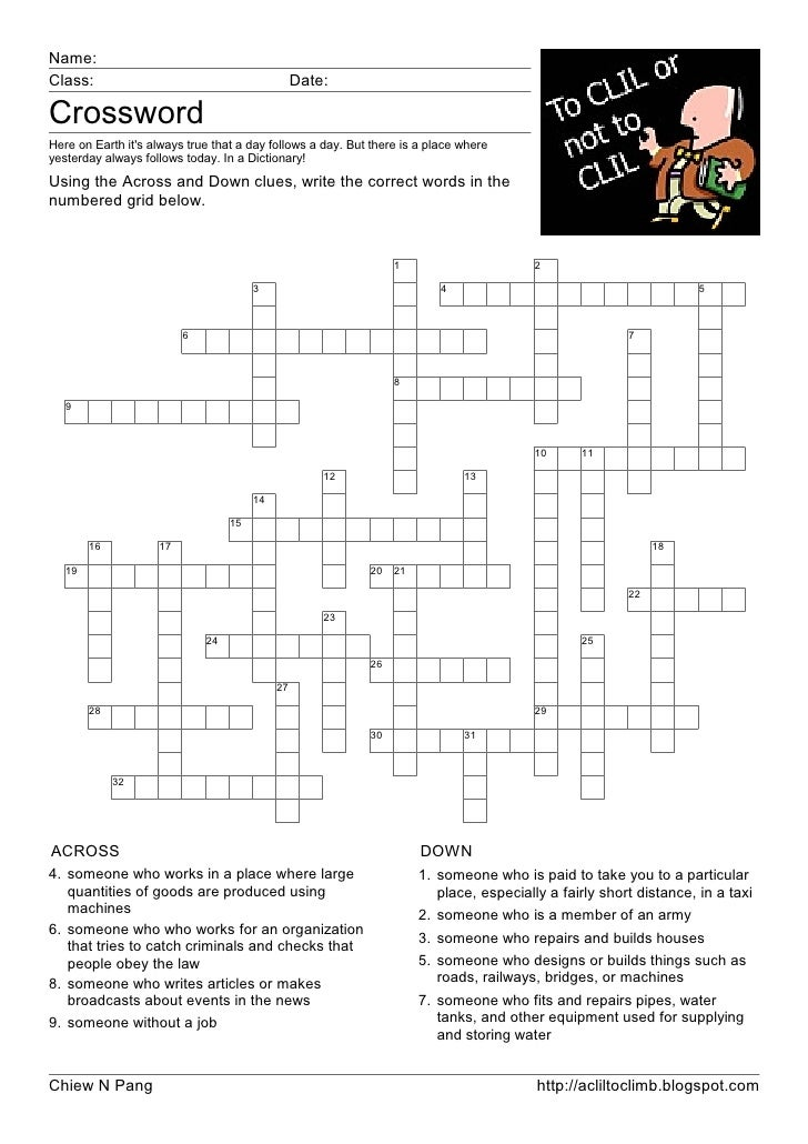 Name: Class:                                           Date:  Crossword Here on Earth it's always true that a day follows ...