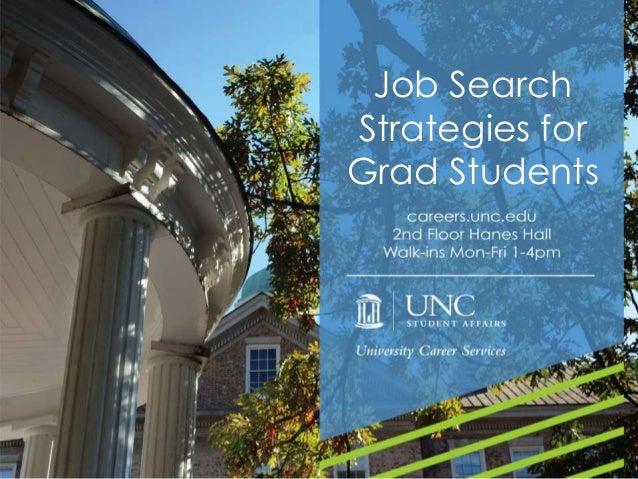 Job Search Strategies for Grad Students