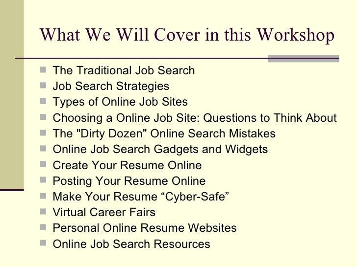 job searching 101 job searching online