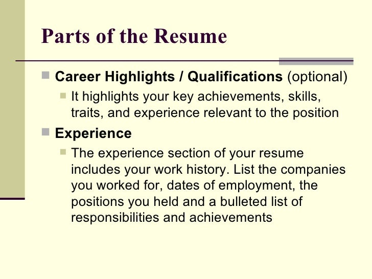 resume experience section resume for seeker with