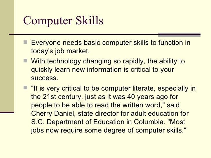 19 computer skills