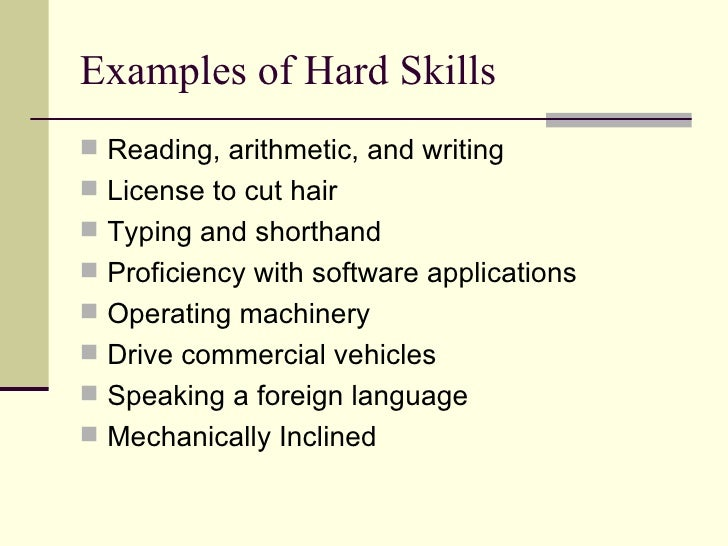 Resume Resume Hard Skills Examples Job Searching 101 Skills Employers Look  For Examples Of Hard Skills