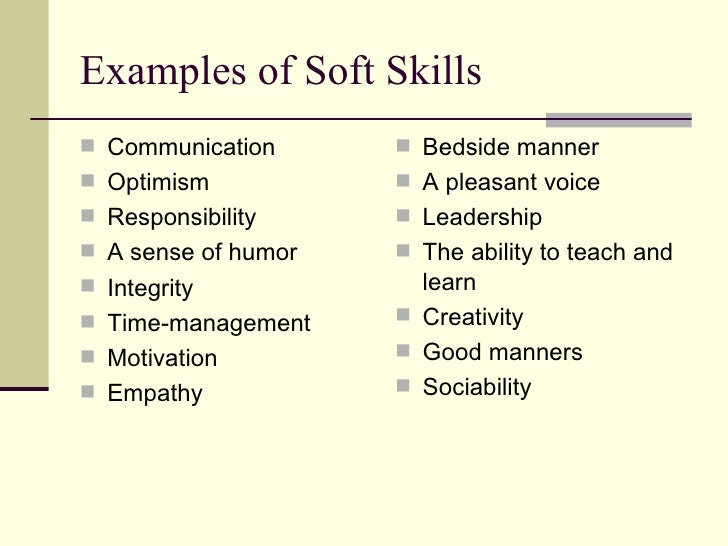 ... 6. Examples Of Soft Skills ...