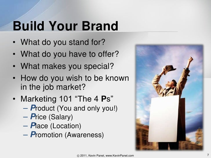 marketing yourself for a job