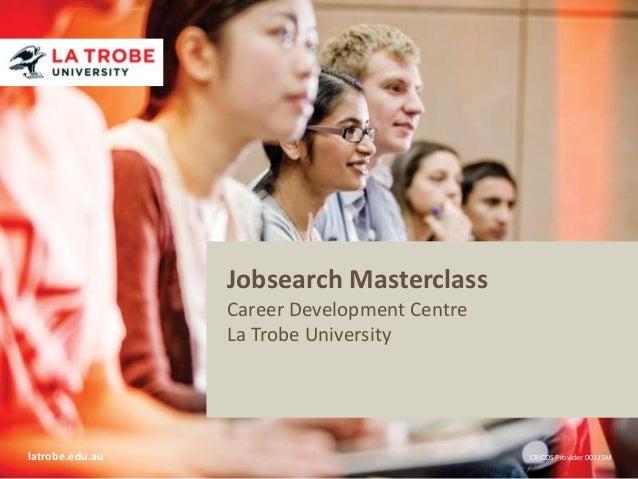 latrobe.edu.au CRICOS Provider 00115M Title of presentation Name of presenter Title of presenter School / Faculty / Divisi...