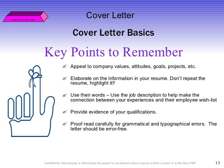 key points to remember resumecover letter - Resume Cover Letter Key Points