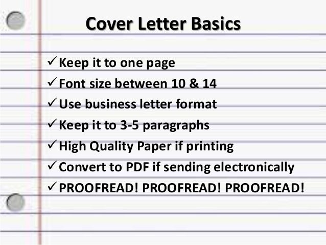 cover letter - Resume Cover Letter Font Size