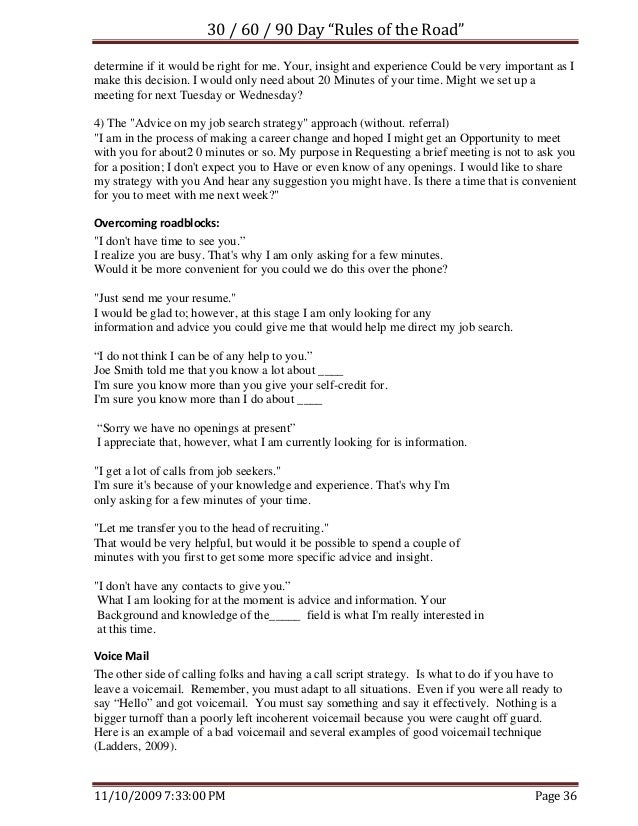 Job Search Rules Of The Road