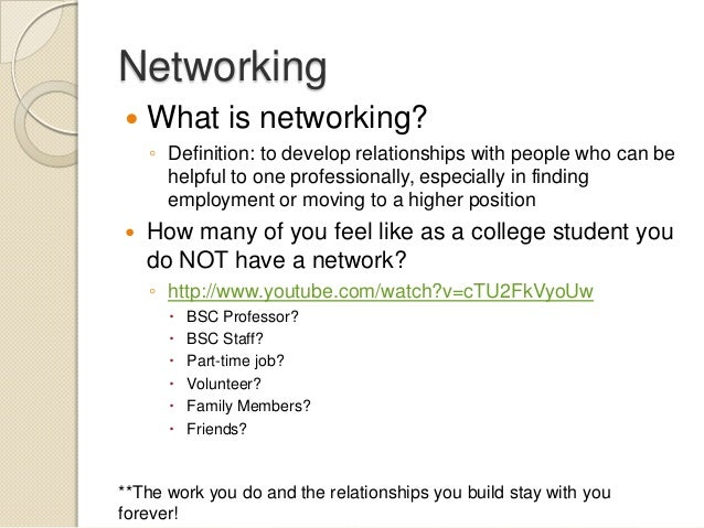 employment networking
