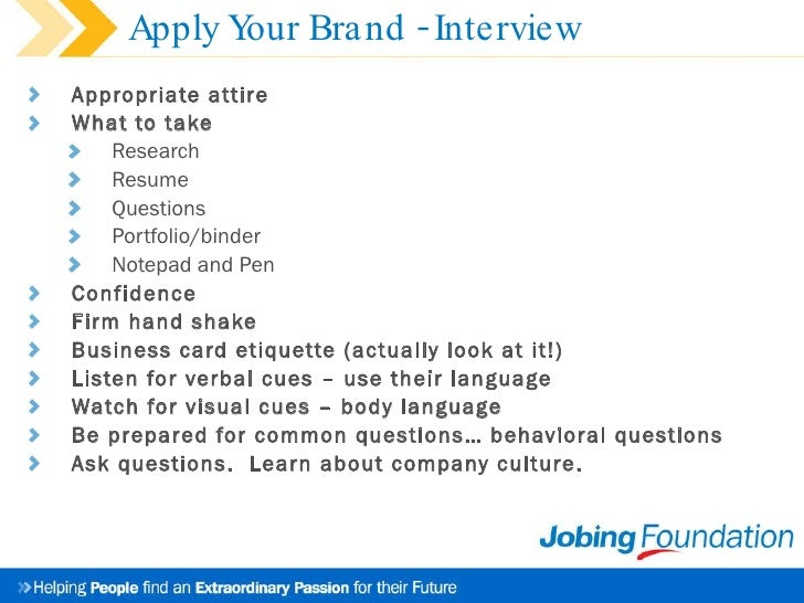 Job Seeker Presentation Building The Brand Called You