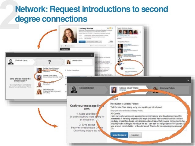 16 Network: Request introductions to second degree connections
