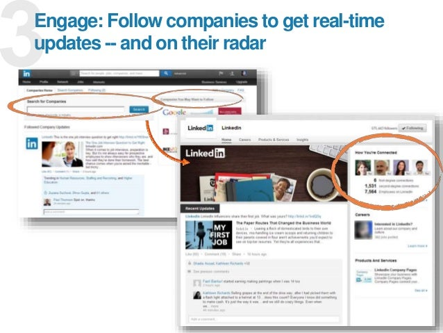 17 Engage: Follow companies to get real-time updates -- and on their radar