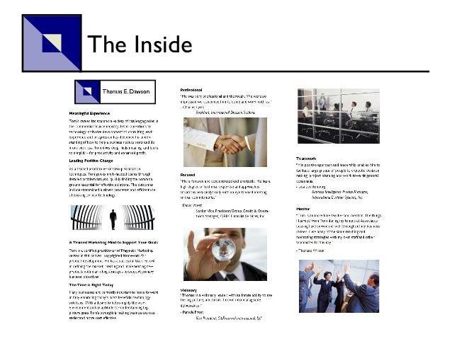 job seekers marketing tri fold