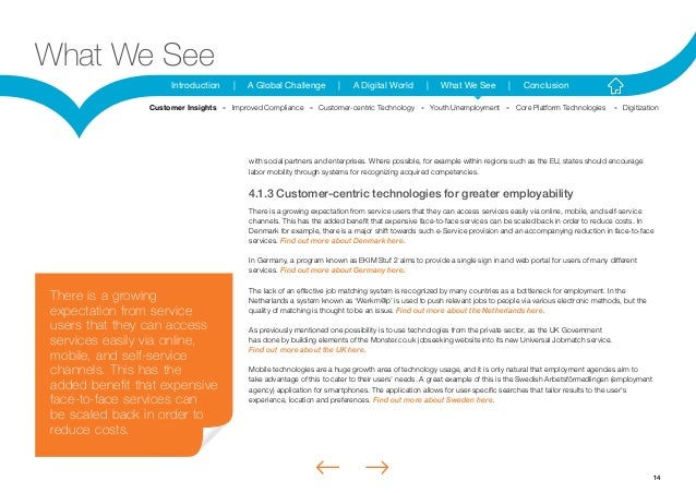 14Introduction | A Global Challenge | A Digital World | What We See | ConclusionWhat We Seewith social partners and enterp...