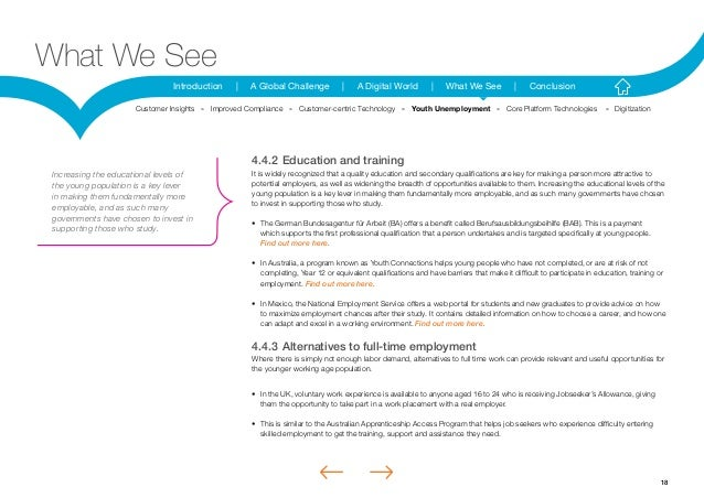 18Introduction | A Global Challenge | A Digital World | What We See | ConclusionWhat We See4.4.2Education and trainingIt ...