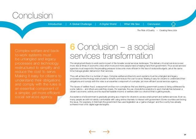 24Introduction | A Global Challenge | A Digital World | What We See | ConclusionConclusion6 Conclusion – a socialservices ...