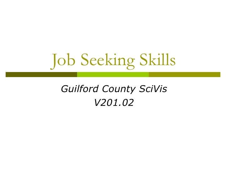 Job Seeking Skills Guilford County SciVis        V201.02