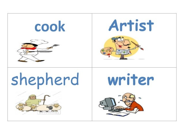 jobs flash cards jobs flash cards cook artist shepherd writer