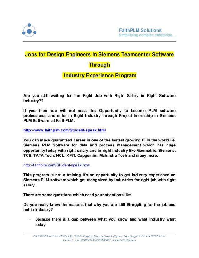 Jobs for design engineers in siemens teamcenter software