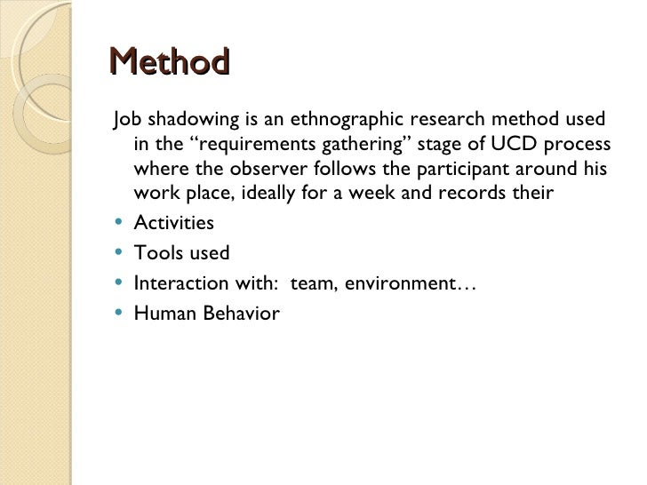 job shadowing research papers Please check your internet connection or reload this page  job shadow essay examples 2 total results shadowing a psychiatrist 1,786 words.
