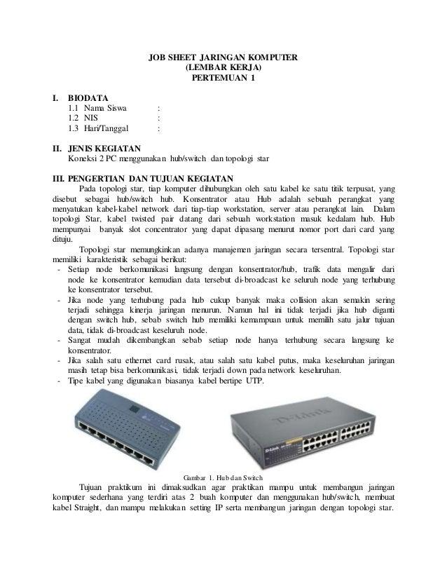 Job Sheet Jaringan Dasar 1
