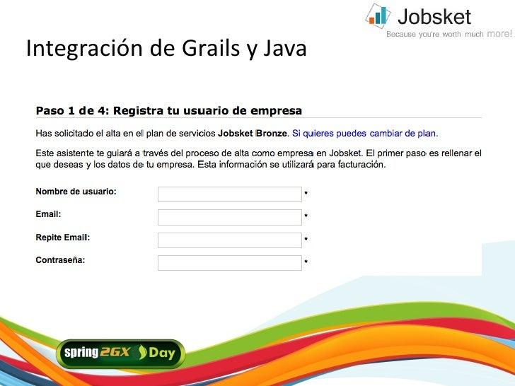 Integración de Grails y Java     2/21/10
