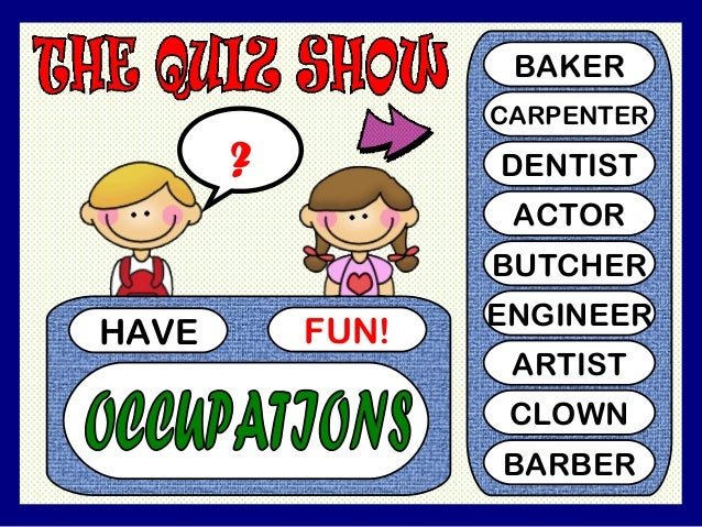 JOBS / OCCUPATIONS PPT GAME