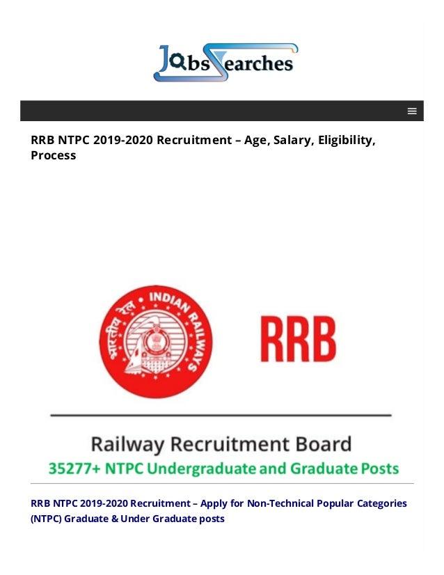 RRB NTPC 2019-2020 Recruitment