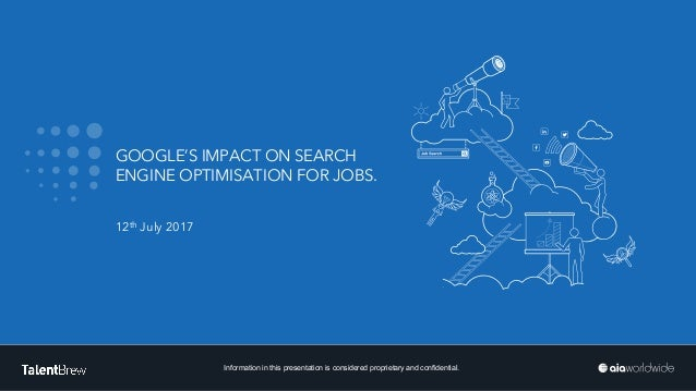 BUILD YOUR TALENT Information in this presentation is considered proprietary and confidential. GOOGLE'S IMPACT ON SEARCH E...