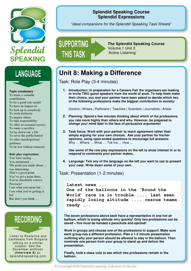 Splendid Speaking Course                                                                     Splendid Expressions         ...