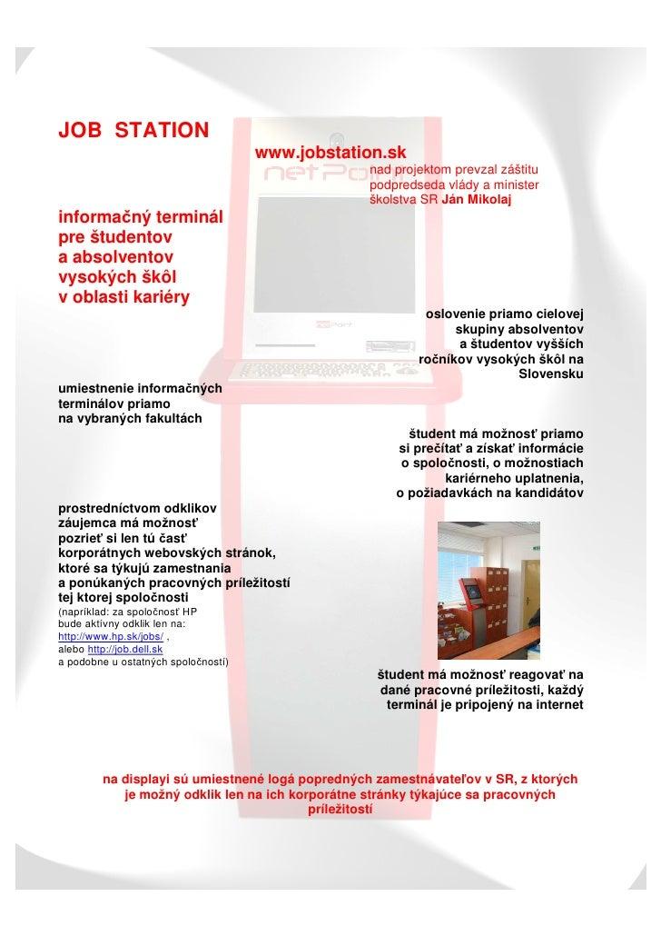 JOB STATION                                      www.jobstation.sk                                                  nad pr...