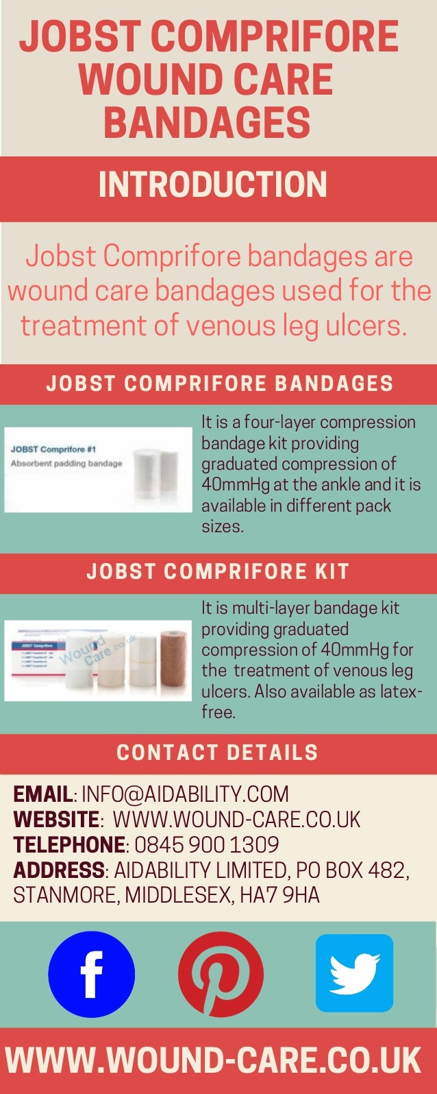 JOBSTCOMPRIFORE ����WOUNDCARE���� �����BANDAGES WWW.WOUND-CARE.CO.UK JobstCompriforebandagesare woundcarebandagesusedforth...