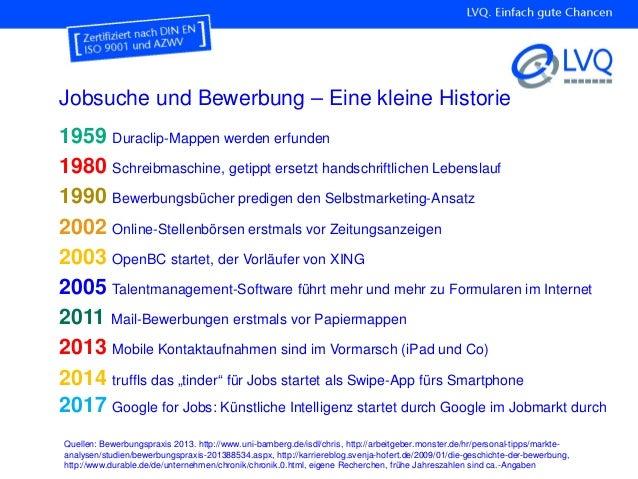jobsuche und bewerbung eine kleine historie quellen bewerbungspraxis 2013 http - Ca Bewerbung