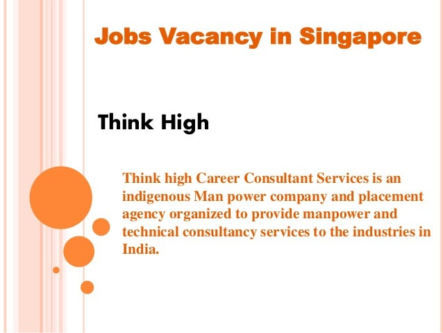 Jobs in Singapore for foreigners