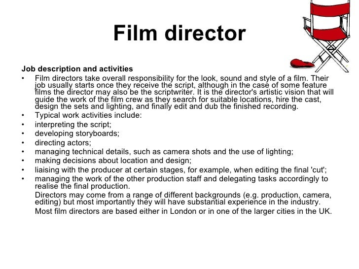 Film Director Job Description. What Is The Role Of A Producer