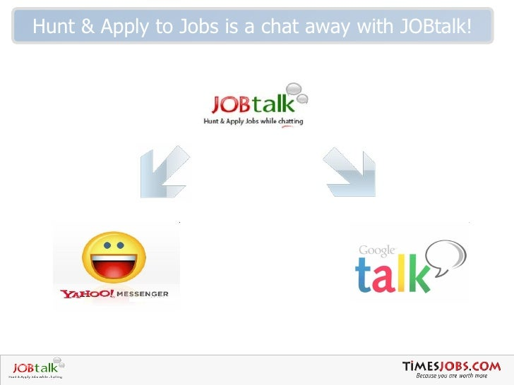 Hunt & Apply to Jobs is a chat away with JOBtalk!