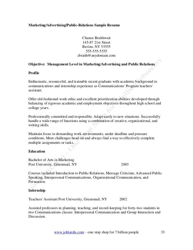 Sample Cover Letter For Public Relations Gallery Letter Format