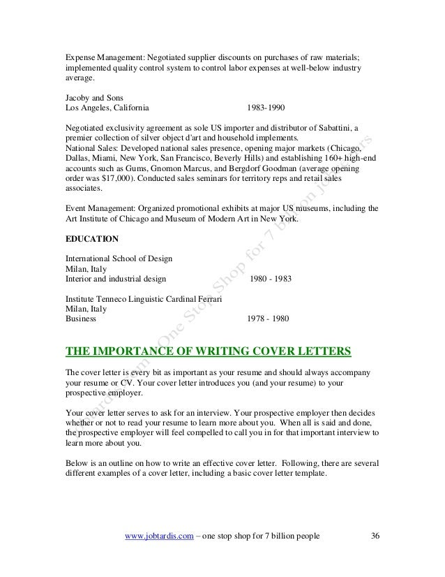 SlideShare  Basic Cover Letter Template