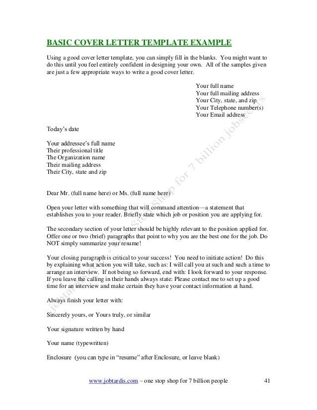 European Cover Letter