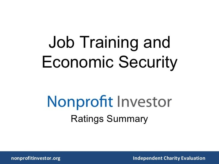 Job Training and Economic Security Ratings Summary