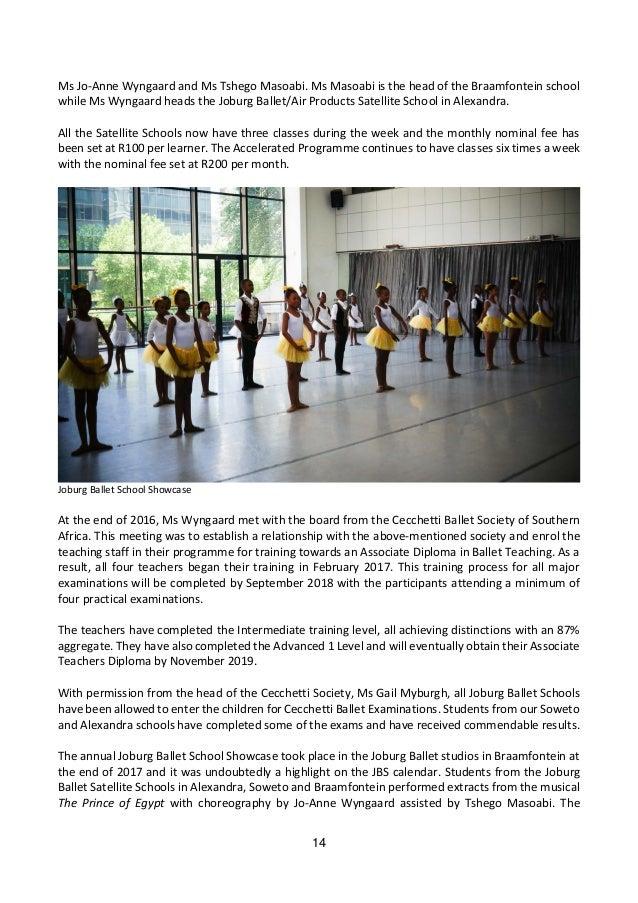 Joburg Ballet Annual Report 2017