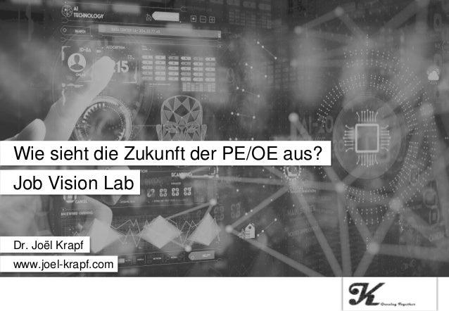 Job Vision Lab Wie sieht die Zukunft der PE/OE aus? Dr. Joël Krapf www.joel-krapf.com